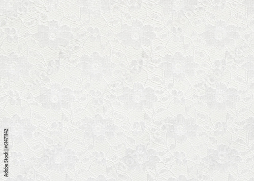 Foto op Canvas Stof White lace background