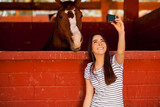 Selfie with my horse! poster