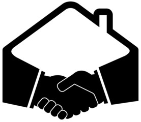 black handshake icon