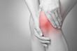 Leinwanddruck Bild - Knee pain