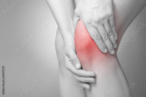 Leinwanddruck Bild Knee pain