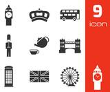 Fototapety Vector black london icons set