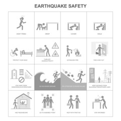 Earthquake safety procedure