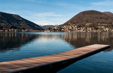 Lake Lugano, Lavena Ponte Tresa, Lombardy
