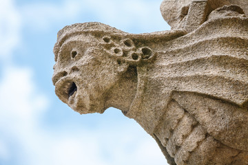 Medieval gargoyle. Oxford, UK