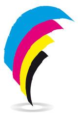 cmyk - Logo - vierfarbdruck - offsetdruck - streifen