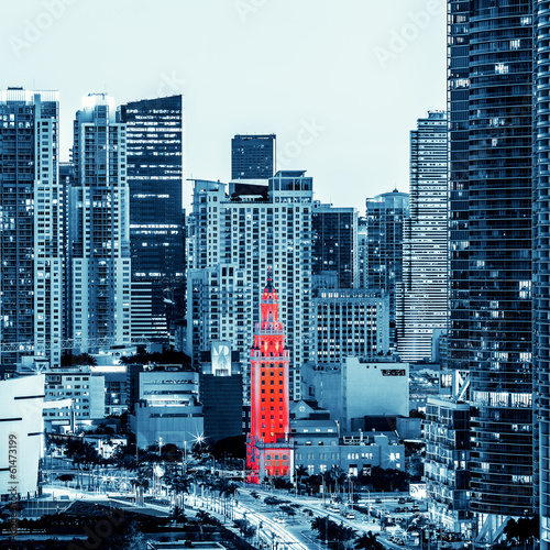 View of Miami downtown © Frédéric Prochasson