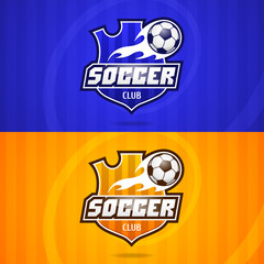 Background soccer club emblem