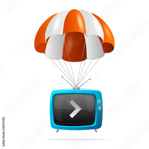 Tv and parachute