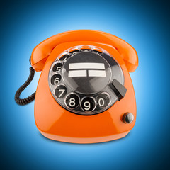 orange retro phone
