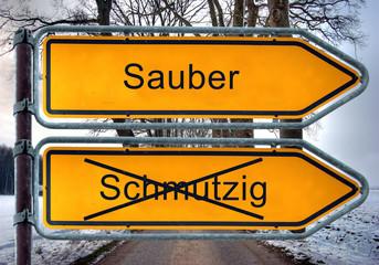 Strassenschild 5 - Sauber