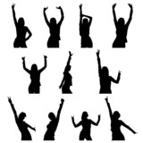 dance girl silhouette
