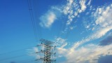 cloudscape time lapse and pylon tower