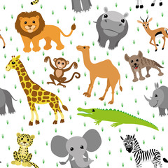 Seamless background. Animals.