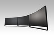 4K curved OLED TV wall with clipping path