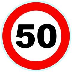 Panneau routier 50 signalisation