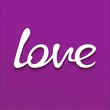 Handwriting word LOVE on textured background. 3D vector eps10