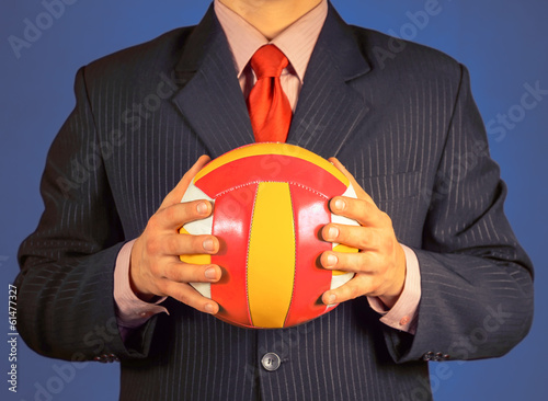 Businessman with ball