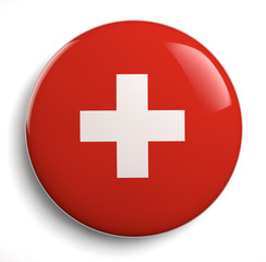 Red Swiss Flag White Cross
