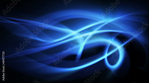 ice blue abstract  light waves in curved motion (FULL HD)
