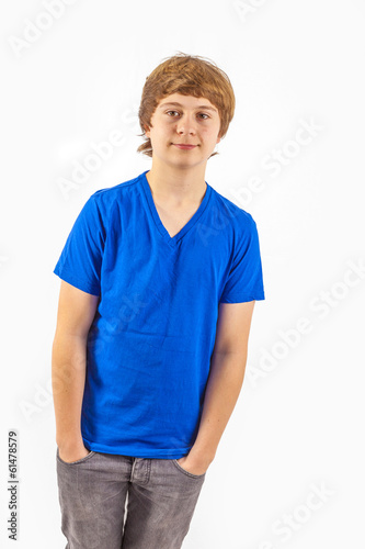 handsome young boy in studio