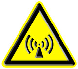Warning non ionizing radiation sign poster