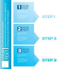 Vector Modern blue infographics numbered banners