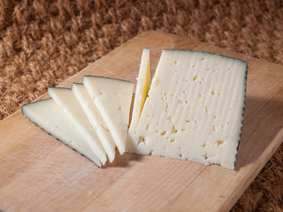Slices of spanish cheese