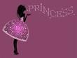 Красивая Принцесса  в платье с блестками