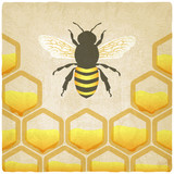 bee honeycomb old background