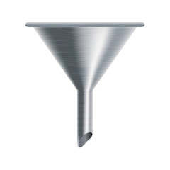 metallic funnel