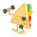 Exercise stronger cute sandwich poster
