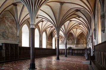 Gothic hall of the castle in Malbork.
