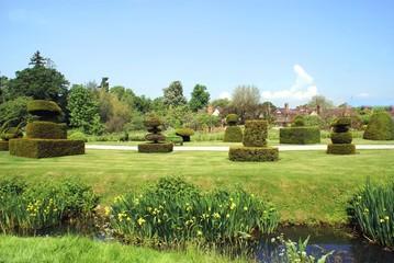 hever castle garden, kent, england