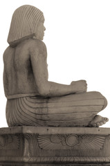 Side View of Ancient Egyptian Scribe