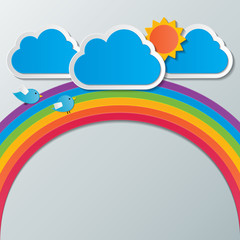 rainbow sky background