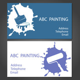 Template cards for painter, for the vector