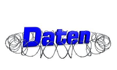 Daten-Sicherheit-Blau