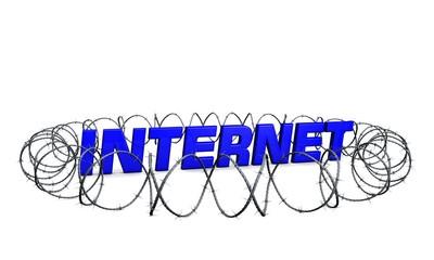 Internet-Sicherheit-blau