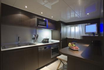 Italy, Tuscany, luxury yacht, kitchen