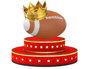 Award of rugby sport with crown