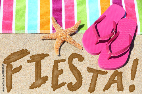 Beach party fiesta travel fun concept