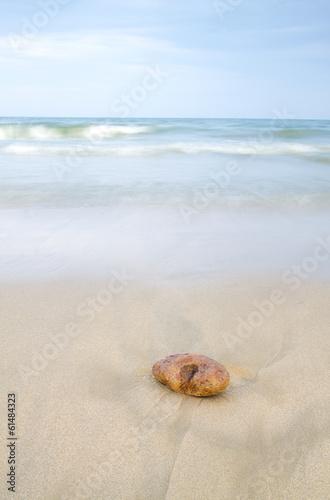Fotobehang Een Hoekje om te Dromen cuando no hay nadie en la playa