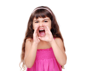 Shouting loud little girl