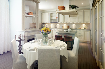 Provence kitchen interior