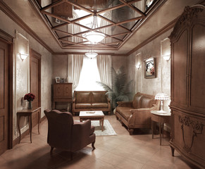 Recreation room in classic style