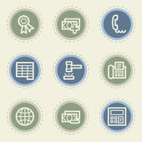 Finance web icon set 2, vintage buttons