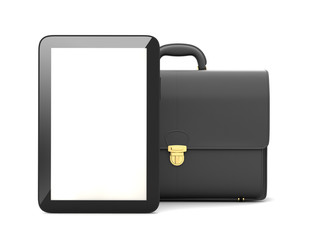 Tablet computer and business briefcase