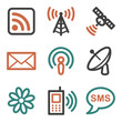 Communication web icons, contour series