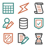 Database web icons, contour series